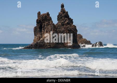 Roque de Benijo im Anaga-Küste in Teneriffa, Kanarische Inseln. - Stockfoto