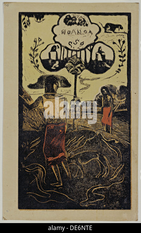 Noa Noa (Duft) Aus der Serie Noa Noa, 1893-1894. Artist: Gauguin, Paul Eugéne Henri (1848-1903) - Stockfoto