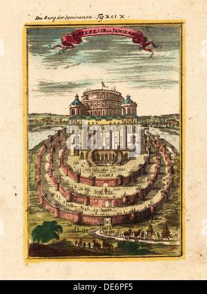 Festung der Semiramis, 1719. Künstler: Mallet, Alain Manesson (1630-1706) - Stockfoto