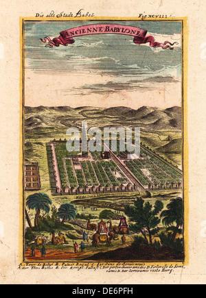 Sterben Sie Alte Stadt Babel, 1719. Künstler: Mallet, Alain Manesson (1630-1706) - Stockfoto