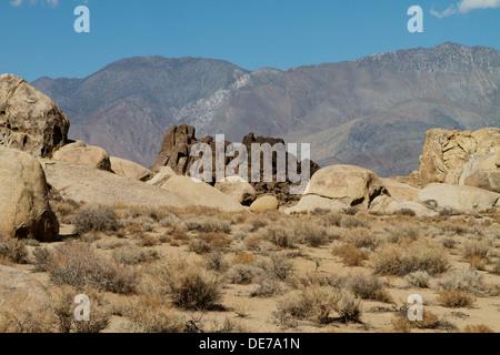 Die Alabama Hills westlich von Lone Pine im Owens Valley, Kalifornien - Stockfoto