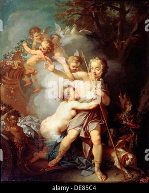 """""""Venus und Adonis"""", 1750er Jahren.  Künstler: Étienne Jeaurat - Stockfoto"""
