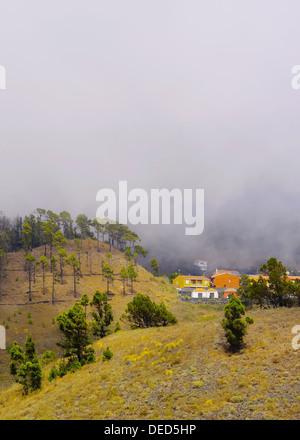 Landschaft der Insel La Plama vom Vulkan San Antonio, Fuencaliente auf Kanarische Inseln, Spanien - Stockfoto
