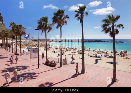 Playa de Los Amadores, Gran Canaria, Kanarische Inseln, Spanien, Atlantik, Europa - Stockfoto