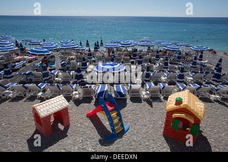 Strand Promenade des Anglais Nizza Cote d ' Azur Alpen Alpes Frankreich Europa - Stockfoto