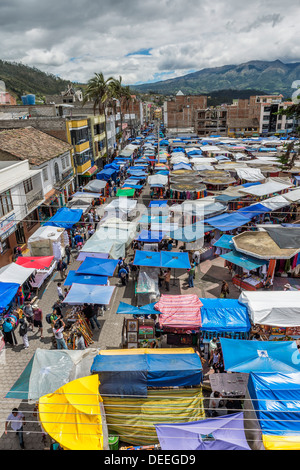 Otavalo Markt, Provinz Imbabura, Ecuador, Südamerika - Stockfoto