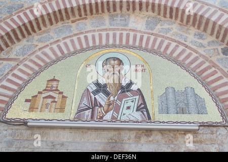 Saint Panteleimon Mosaik - Stockfoto
