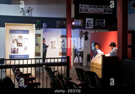 Innere des Laurel & Hardy Museum, Ulverston, Cumbria, England UK - Stockfoto