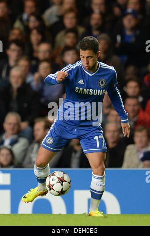 London, UK. 18. September 2013. Chelseas Eden Hazard in der UEFA Champions League-Gruppe E-match zwischen Chelsea - Stockfoto