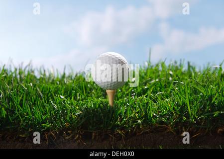 Golfball auf tee - Stockfoto