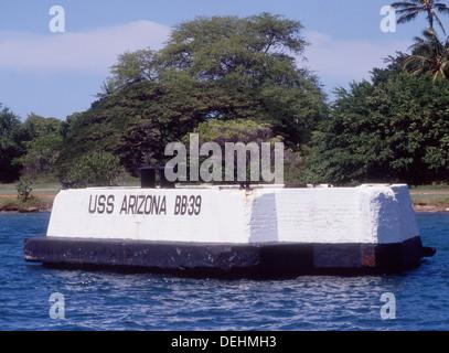 USA-Hawaii, Oahu, Honolulu, Pearl Harbour, Arizona memorial - Stockfoto
