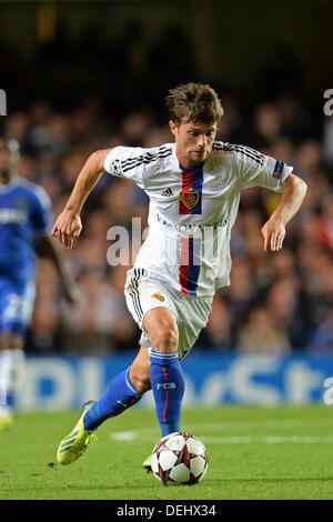 London, UK. 18. September 2013. London, UK. 18. September 2013. Basels Valentin Stocker in der UEFA Champions League - Stockfoto