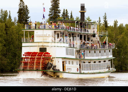 Riverboat Discovery III, Chena River, Fairbanks, Alaska - Stockfoto