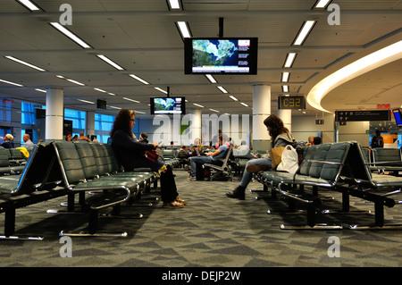 Internationalen Abflughalle, Toronto, Ontario, Kanada - Stockfoto