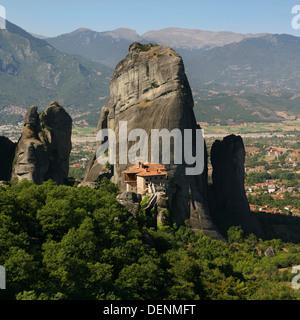Roussanou Kloster in Meteora, Thessalien, Griechenland. - Stockfoto
