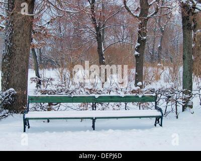 -Pers-Park im Winter - Wien(Austria). - Stockfoto