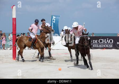 Miami Beach Polo Turnier 2011, Florida, Vereinigte Staaten - Stockfoto