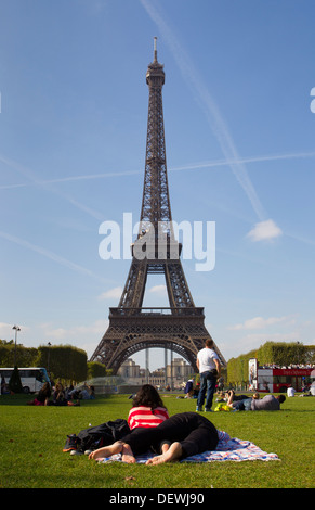 Eiffelturm Paris Frankreich - Stockfoto
