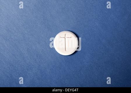 Die Pillen mit Kreuz, Designer-Drogen, Pillen Mit Kreuz, Designerdrogen - Stockfoto