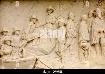 USA, New England, Massachusetts, Plymouth, nationales Denkmal zu den Ahnen - Stockfoto