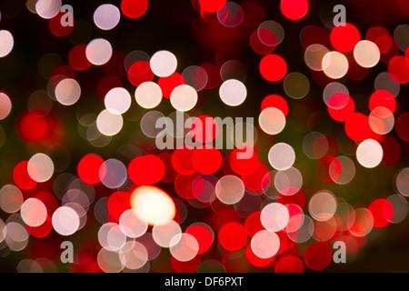 Defokussierten Ligths Weihnachtsbaum - Stockfoto