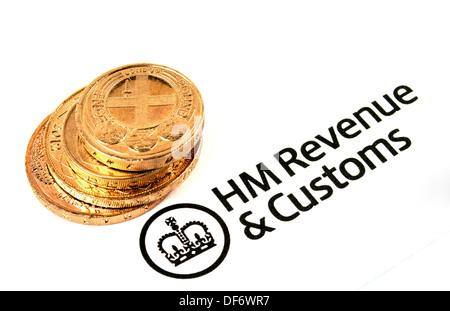 HM Revenue & Zoll logo - Stockfoto