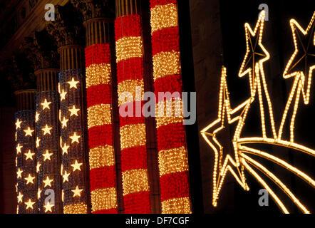 Spalten auf New York Börse, New York City. USA - Stockfoto