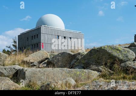 Bocken House Informationszentrum auf dem Gipfel Plateau von Mt Brocken, Brocken, Wernigerode, Sachsen-Anhalt, Deutschland - Stockfoto