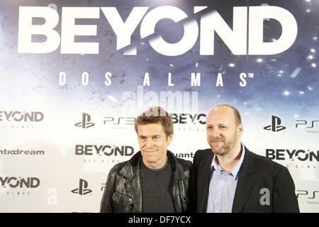 Madrid, Spanien. 30. September 2013. Schauspieler Willem Dafoe besucht Playstation Spiel 3: zwei Seelen Photozelle - Stockfoto