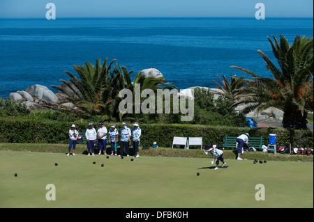 Rasen-Kegler von Camps Bay, Kapstadt, Südafrika - Stockfoto