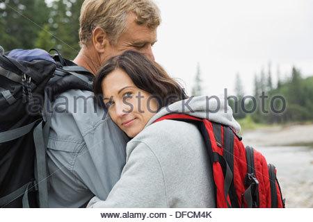 Porträt von liebevollen paar im freien - Stockfoto