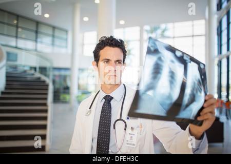 Arzt Anzeige Brust Röntgen im Krankenhaus - Stockfoto