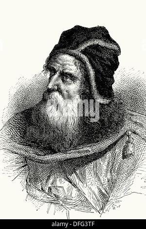 Archimedes, Mathematiker und Erfinder. 287 n. Chr. - 212A.C. alte Abbildung. (El Mundo Físico, Amadeo Guillemin, - Stockfoto