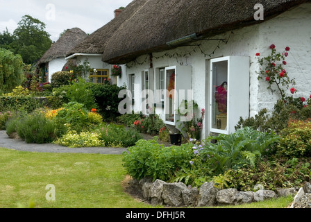 reetdachhaus mit garten in adare limerick county irland stockfoto bild 25204650 alamy. Black Bedroom Furniture Sets. Home Design Ideas