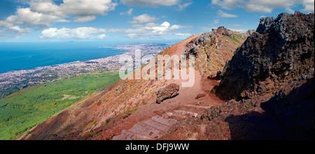 Der Vulkankrater Vesuv, Italien - Stockfoto