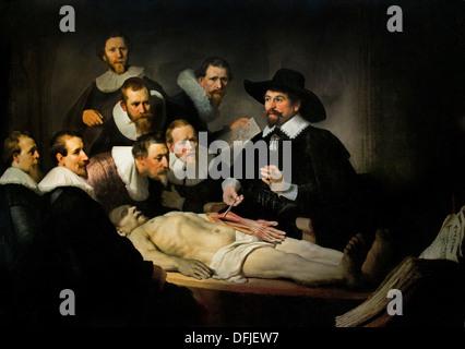 Die Anatomiestunde (de Anatomische Les) von Dr. Nicolaes Tulp 1632 ...