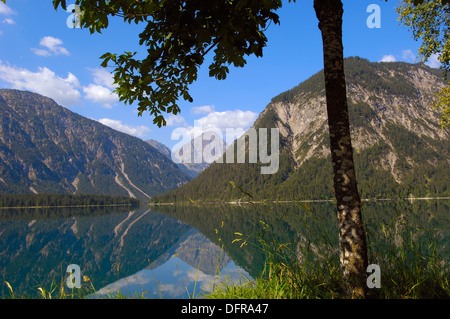 Österreich, Plansee, Tirol, See-Plansee, Seespitz, Ammergauer Alpen. - Stockfoto