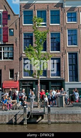 Das Anne Frank Haus Prinsengracht 263-265 Kanal in Amsterdam Niederlande (Museum des jüdischen Krieges Tagebuchschreiberin - Stockfoto