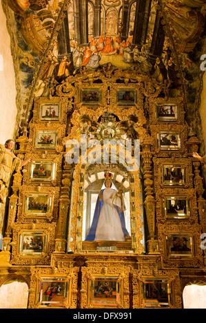 Altar, Heiligtum der Atotonilco, in der Nähe von San Miguel de Allende, Bundesstaat Guanajuato, Mexiko - Stockfoto