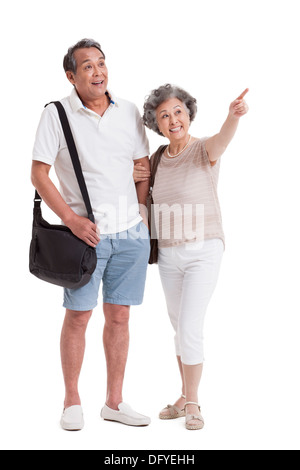 Fröhliche älteres paar betrachten - Stockfoto