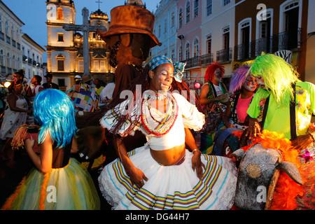 Salvador-Straßenjahrmarkt in Pelourinho, Bahia, Brasilien, Südamerika - Stockfoto