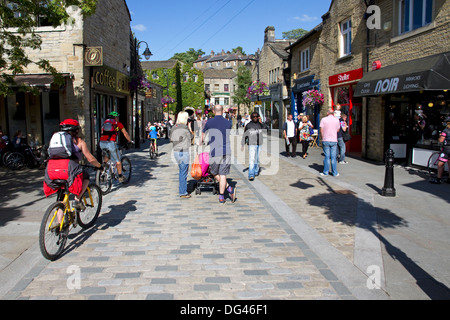 Stadtzentrum von Hebden Bridge, Calder-Tal, West Yorkshire, England, UK - Stockfoto