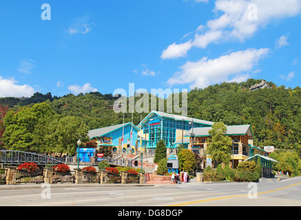 Ripleys Aquarium die Smokies in der Innenstadt von Gatlinburg, Tennessee - Stockfoto