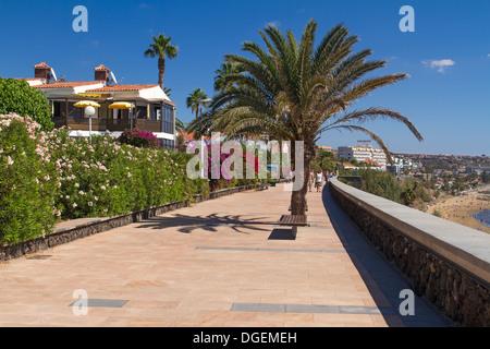 Promenade, Playa des Ingles, Gran Canaria, Spanien - Stockfoto
