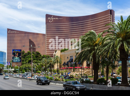 Die Encore und Wynn Speiseterrasse und Kasinos, Las Vegas Boulevard South (The Strip), Las Vegas, Nevada, USA - Stockfoto