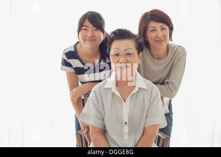 Drei weiblichen Verwandten, portrait - Stockfoto
