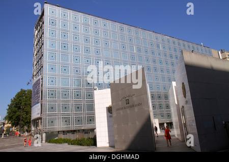 Frankreich, Europa, Frankreich, Paris, 5. Arrondissement, Arab World Institute, AWI, Institut du Monde Arabe, außen, - Stockfoto