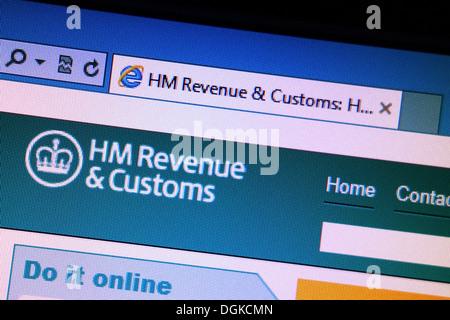 HM Customs & Umsatz-Website - Stockfoto