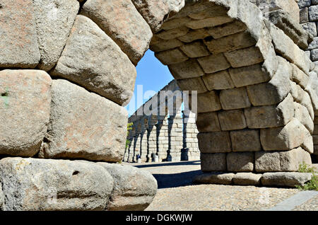 Aquädukt von Segovia, Segovia, Kastilien und León, Spanien - Stockfoto