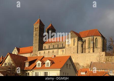 Schloss Quedlinburg, Quedlinburg, Sachsen-Anhalt - Stockfoto